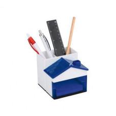 Подставка домик под ручки, синия