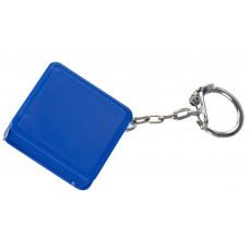 Брелок рулетка Ромб, пластик, синий