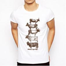 Мужская синтетическая белая футболка с вашим дизайном