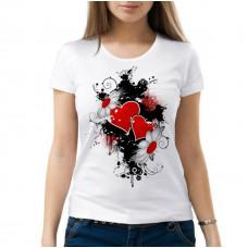 Женская синтетическая белая футболка с вашим дизайном