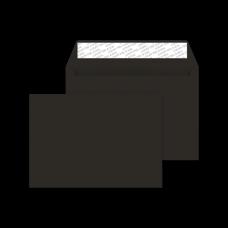 Бумажный цветной конверт С65 (114х229), отрывная лента, чёрный, плотность бумаги 120 гр.