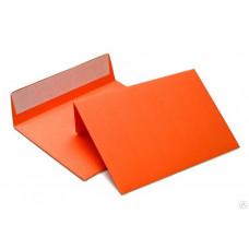 Бумажный цветной конверт С4 (229*324), отрывная лента, оранжевый, плотность бумаги 120 гр.