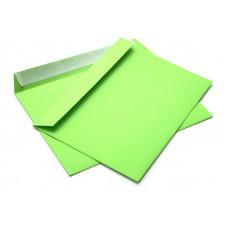 Бумажный цветной конверт С5 (162х229), отрывная лента, зелёный, плотность бумаги 120 гр.