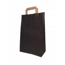 Крафт пакет черный с плоскими ручками, 240*100*370 мм (Ш*Г*В) мм