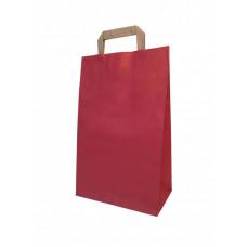 Крафт пакет красный с плоскими ручками, 240*100*370 мм (Ш*Г*В) мм