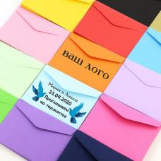 Бумажный цветной конверт 114*162, формат С6, отрывная лента, жёлтый, плотность бумаги 120 гр.