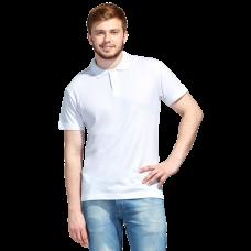 Футболка Поло Унисекс, цвет белый