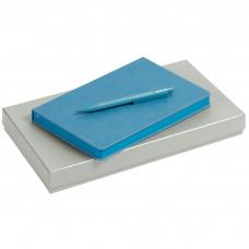 """Набор """"Брэнд Тон"""" с ручкой в коробке, голубой"""