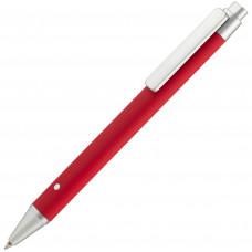 Ручка шариковая Bon Up, красная с серебристым