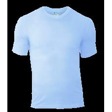 Футболки мужские приталенные Стрэйч, цвет небесно-голубой