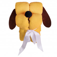 """Игрушка -плед """"Пес"""", желтый"""