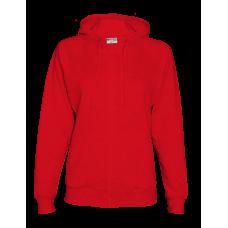 Женская /куртка толстовка с капюшоном, 260гр., цвет красный