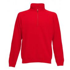 Толстовка Zip Neck, цвет красный