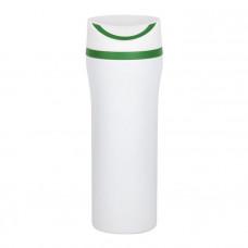 "Термокружка вакуумная ""Унико"", 450 мл, цвет белый с зелёным"