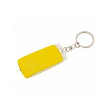 Брелок фонарик Smilik, пластик, желтый