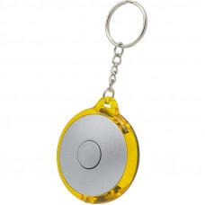 Брелок-фонарик, пластик, желтый