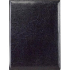Папка адресная А4 Malaga из натуральной кожи синий темный