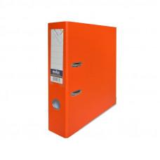Папка-регистратор, 1 мех. кр., А4, 80 мм кор., PVC (ПВХ), оранжевая