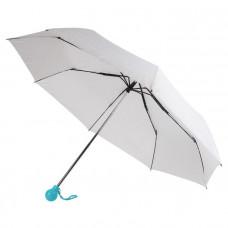 """Зонт складной """"Фантазия """" механический , белый/голубой"""