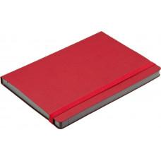 Ежедневник Сatenella А5, недатированный, в гибкой обложке с резинкой, красный