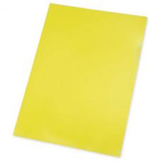 Папка уголок, А4, желтая