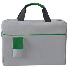 """Конференц-сумка """"Сенс"""" с карманом, зеленый"""