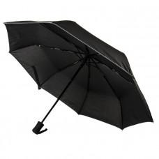 """Зонт """"Лондон"""" Светоотражающий, механика, черный"""